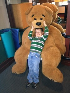 Cutler and his buddy bear