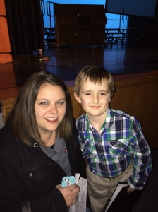 Mason's educator of the year, his current teacher Mrs. James